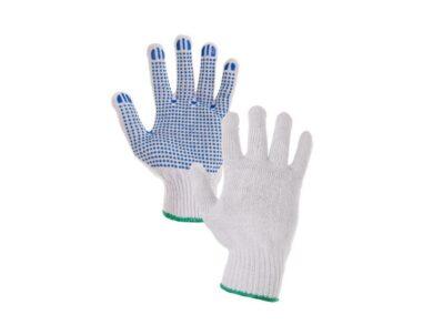 Rukavice textilní s PVC terčíky(1949320008)