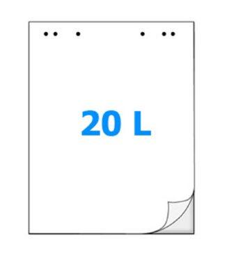 Blok do Flip-chartu 20ls, čistý(212260007)