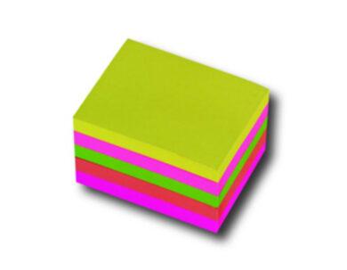 Bloček samolepící 76x76mm, neon.mix(174190032)