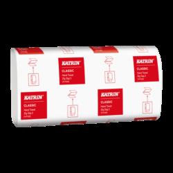 Ručníky papírové Katrin ZZ, 2 vrst. bílé, 3150 ks/kart.