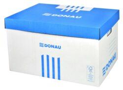 Kontejner archivační 522x351x305mm, bílý s víkem Donau