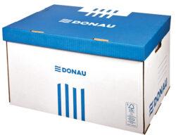 Kontejner archivační 555x370x315mm, bílý  s víkem Donau