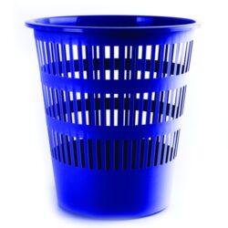 Koš na papír perforovaný, modrý-Odpadkový koš perforovaný 16 l PP, modrý.