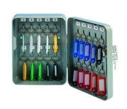 Schránka na klíče kovová, 20 klíčů-Schránka na 20 klíčů 160 x 200 x 80 mm kov, šedá.