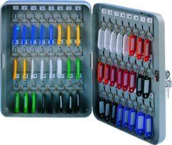 Schránka na klíče kovová, 48 klíčů-Schránka na 48 klíčů 180 x 250 x 80 mm kov, šedá.