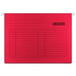 """Desky závěsné DONAU, typ""""V"""", červené-Závěsné desky do karotéky na formát A4."""