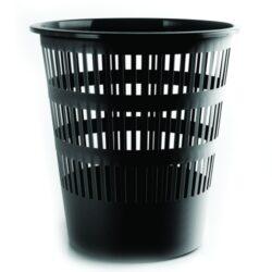 Koš na papír perforovaný, černý-Odpadkový koš perforovaný 16 l PP, černý.