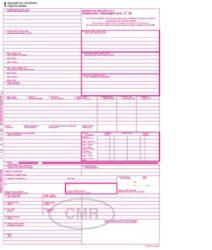 CMR - 5 listů, mezinárodní nákladní list Česko-Anglický, NCR
