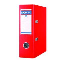 Pořadač pákový A5 PP, 75mm červený-Pákový pořadač pro dokumenty A5, šíře hřbetu 75 mm.