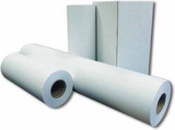 Role kopírovací š.420mm-Kopírovací role nelepené k dutince. Bílý bezdřevý papír pro kopírování 75gr, dutinka 76mm, návin 175 m.