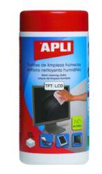 Čistící utěrky na TFT/LCD 100 ks dóza-Vlhčené čistící utěrky v praktické dóze.