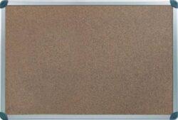Tabule korková hliník.rám 90x120 cm-Kvalitní odolný povrch z korku. Speciálně upravená dřevovláknitá zadní deska zabraňuje zvlhnutí a deformaci tabule.
