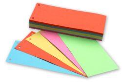 Rozlišovač kartonový 105x240mm barevný mix ECO, 100 ks-Rozlišovací pruhy 240 x 105 mm lepenka, 200 g, mix barev - 100 ks.