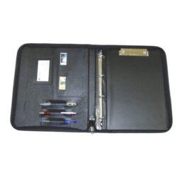 Desky konferenční - portfolio A4 1210 černá-Konferenční složka A4 se zipem.