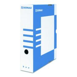 Krabice archivační hřbet 100 mm, modrá