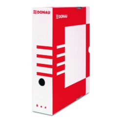 Krabice archivační hřbet 100 mm, červená