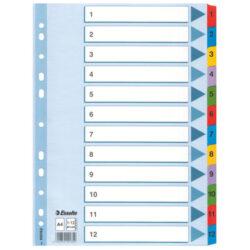 Rozlišovač A4 Esselte, papírový 1-12, rejstřík