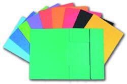 Mapa odkládací - prešpán, 3 klopy  zelená-Odkládací mapa se třemi klopami, barevný karton PREŠPÁN 350g.