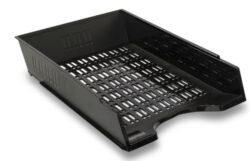 Zásuvka odkládací děrovaná, černá-Kancelářský děrovaný odkladač na dokumenty formátu A4.