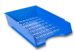 Zásuvka odkládací děrovaná, modrá-Kancelářský děrovaný odkladač na dokumenty formátu A4.
