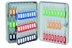 Schránka na klíče kovová, 93 klíčů-Schránka na 93 klíčů 240 x 300 x 80 mm kov, šedá.