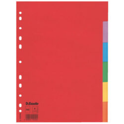 Rozlišovač A4 Esselte Economy, papírový, 6 barev -  6 ls