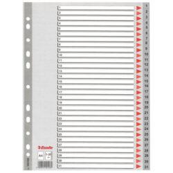 Rozlišovač A4, PP 1-31, 31 ls, Esselte-Plastový rozlišovač A4 pro číselní třídění.