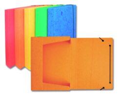 Box na spisy A4 - prešpán modrý s gumou