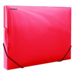 Box na spisy A4 - PP červený s gumičkou-Box na spisy s gumičkou.