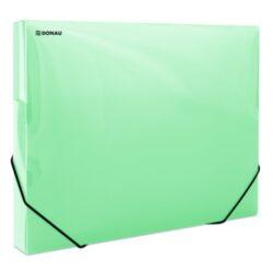 Box na spisy A4 - PP zelený s gumičkou-Box na spisy s gumičkou.