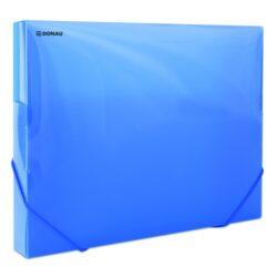 Box na spisy A4 - PP modrý s gumičkou-Box na spisy s gumičkou.