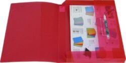 Desky spis. A4 PVC průhl. červené s drukem(174460175)