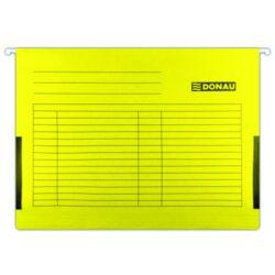 Desky závěsné s bočnicemi DONAU žluté-Závěsné desky do karotéky na formát A4.