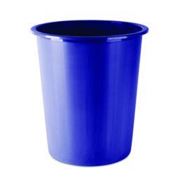 Koš na papír plný, modrý-Odpadkový koš 14 l PP, modrý.