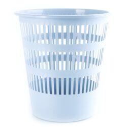 Koš na papír perforovaný, šedý-Odpadkový koš perforovaný 16 l PP, šedý.