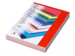 Desky kartónové CHROMO A4/100ks, červené-Kartonové desky, z jedné strany barevný leštěný povrch. Druhá strana bílá matná, 220 g/m2. V balení 100 ks.