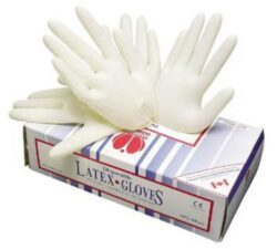 Rukavice latexové LOON jednorázové vel.S, 100 ks-Pracovní rukavice latexové LOON, bal. 100 párů